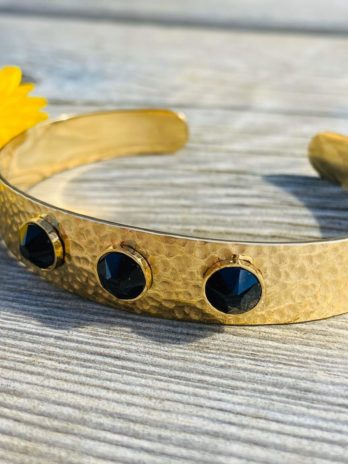 Bracelet dorée cristaux de swarovski