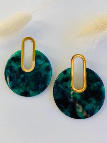 Boucles d'oreilles plexi vert