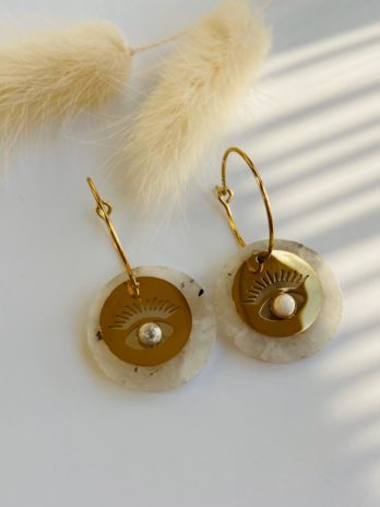 Boucle d'oreilles pierre naturelle