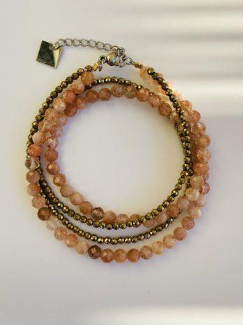 bracelet perle et pierre naturelle