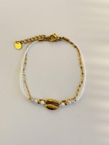 bracelet doré grain de café