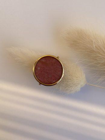 bague dorée rose