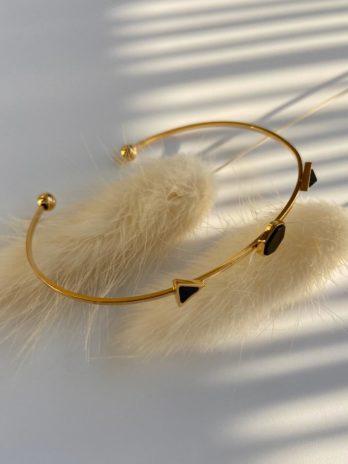 Bracelet doré marbre synthétique