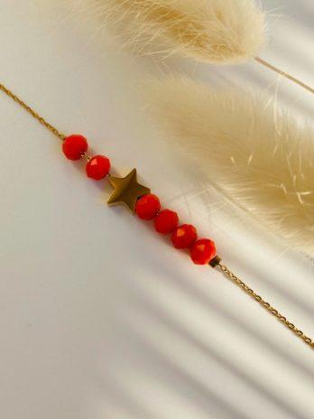 Bracelet doré perle