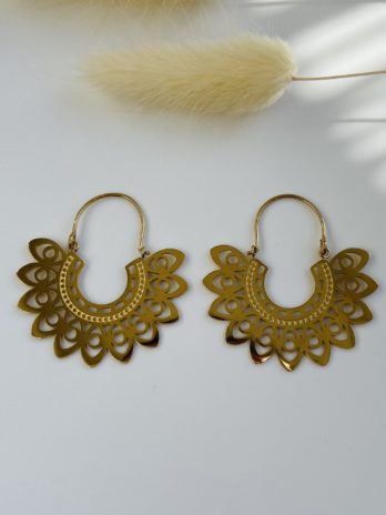 Boucle d'oreilles dorées