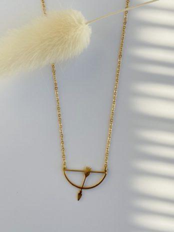 Collier doré arc