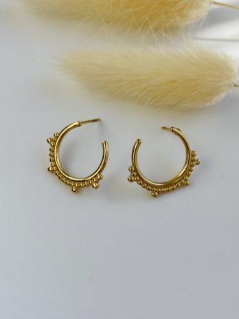 Boucle d'oreilles dorées petites lunes
