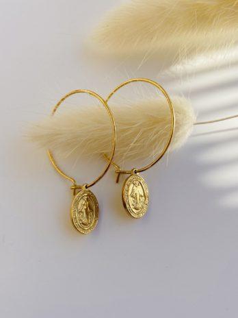 Boucle d'oreilles dorée Santa Maria