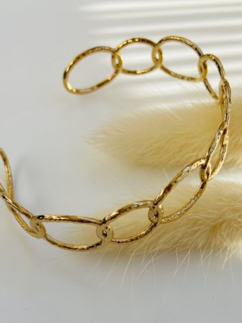 Bracelet doré chaîne