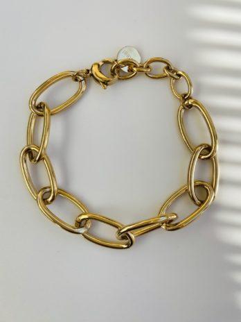 Bracelet doré maille chaîne