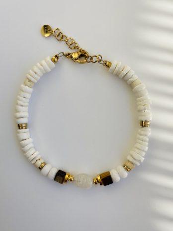 Bracelet doré pierres naturelles