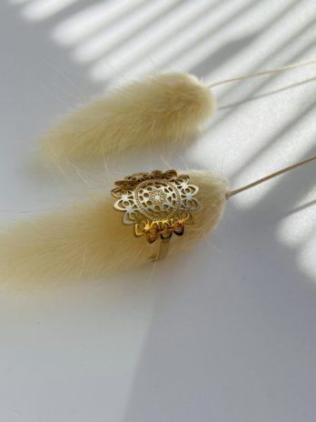 Bague dorée mandala