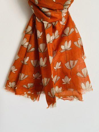 Foulard fleur de lotus