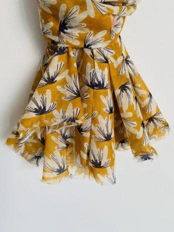 Foulard fleur de coton