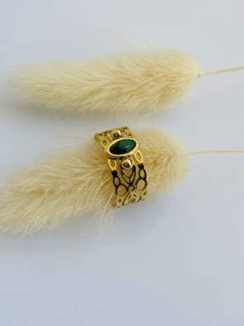 Bague royal Pierre verte