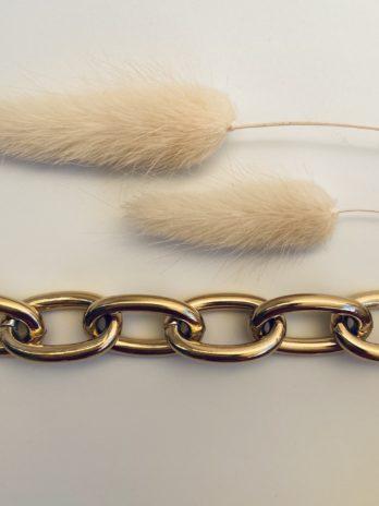 Bracelet doré grosse maille