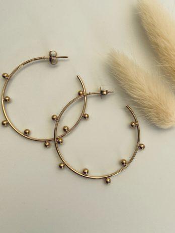 Boucle d'oreilles dorées créole