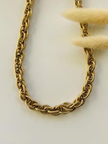 Collier doré maille chaîne