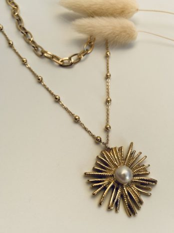 Collier double rang perle