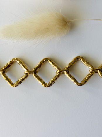 Bracelet doré losange