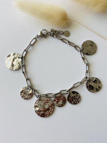 Bracelet argenté breloques