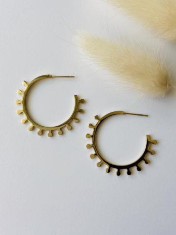 Boucles d'oreilles dorées epi