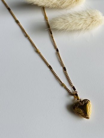 Collier Doré coeur a secret