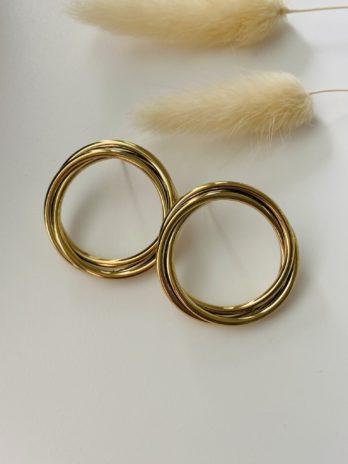 Boucles d'oreilles dorées ronds