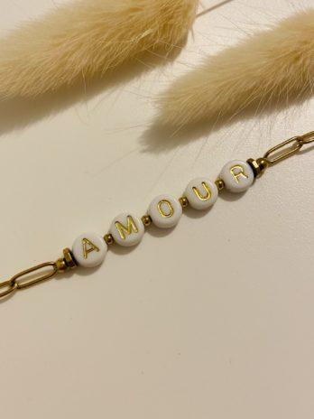 Bracelet doré amour