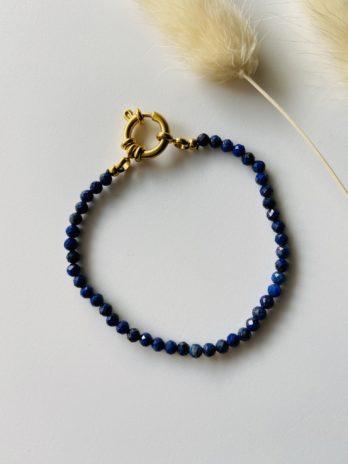 Bracelet perle boucle dorée