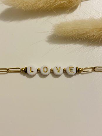 Bracelet doré love