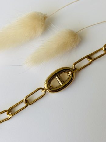 Bracelet doré grosses mailles