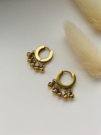 Boucles d'oreilles créoles et breloques