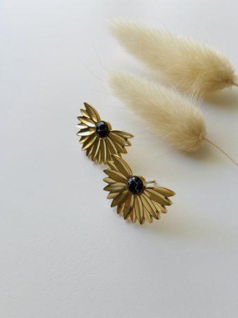 Boucles d'oreilles dorées épi