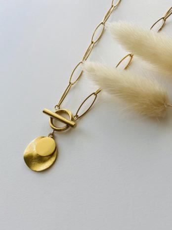Collier doré breloques
