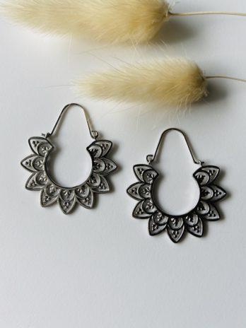 Boucles d'oreilles argentées Épi