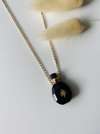 Collier doré mini parfumeur onix
