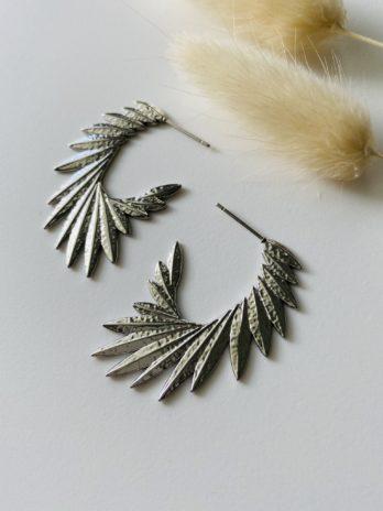 Boucles d'oreilles argentées ailes