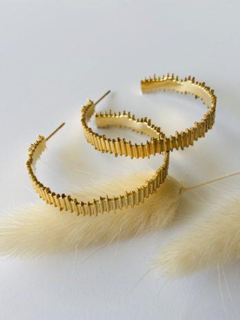 Boucles d'oreilles dorées créoles