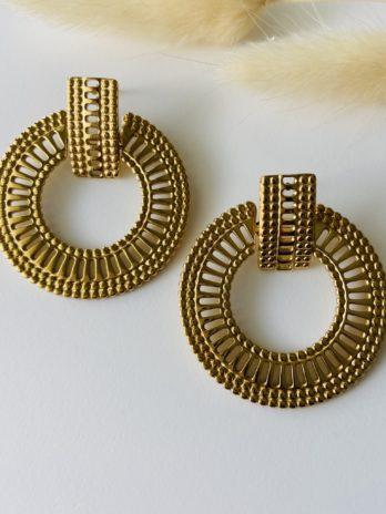 Boucles d'oreilles dorées maya