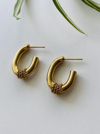 Boucles d'oreilles dorées