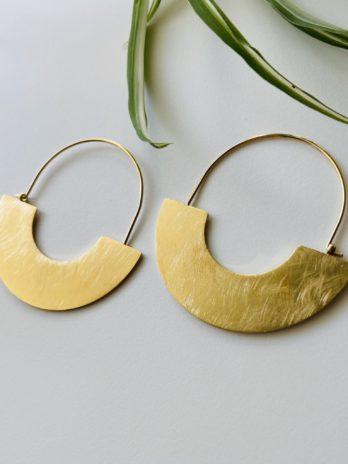 Boucles d'oreilles dorées demi lune