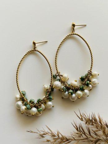 Boucles d'oreilles pampa perles fines