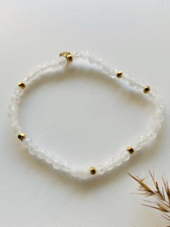 Bracelet pampa pierres naturelles blanches