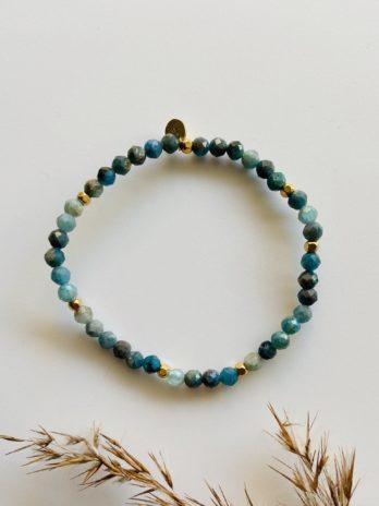 Bracelet pampa pierres naturelles bleues