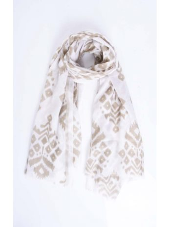 Foulard coton imprimé jacquard