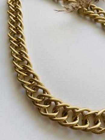 Collier dorée pampa grosse maille