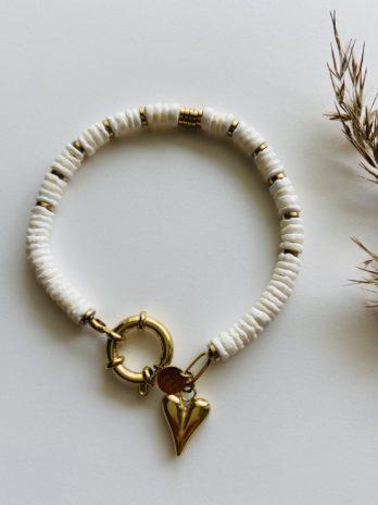 Bracelet doré pampa coeur