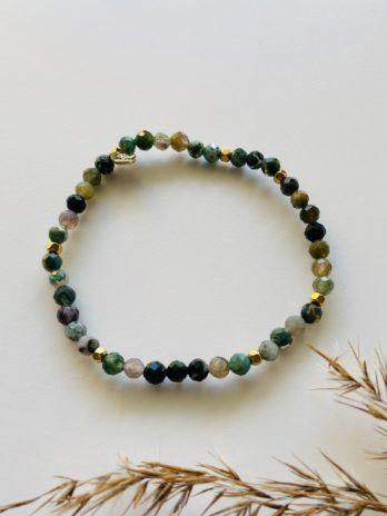 Bracelet pampa pierres naturelles vertes