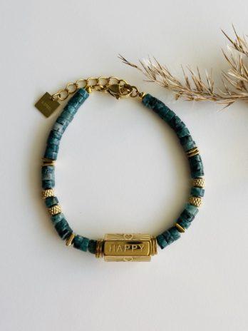 Bracelet pampa pierres naturelles et charm